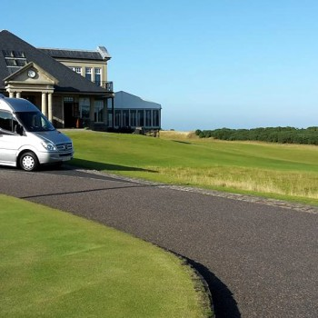 Our Vehicles at Kingsbarns golf course, St Andrews